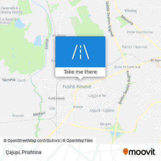 Çajupi map