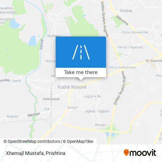 Xhemajl Mustafa map