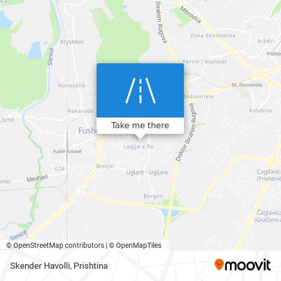 Skender Havolli map