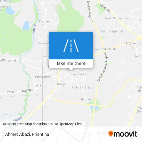 Ahmet Abazi map