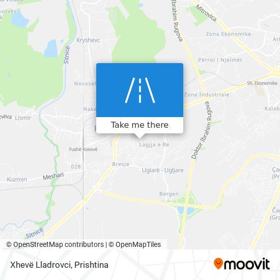 Xhevë Lladrovci map