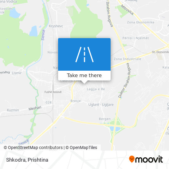 Shkodra map