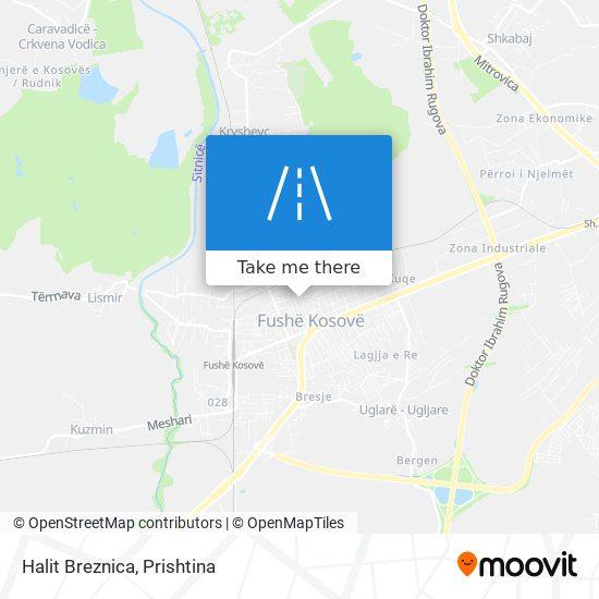 Halit Breznica map