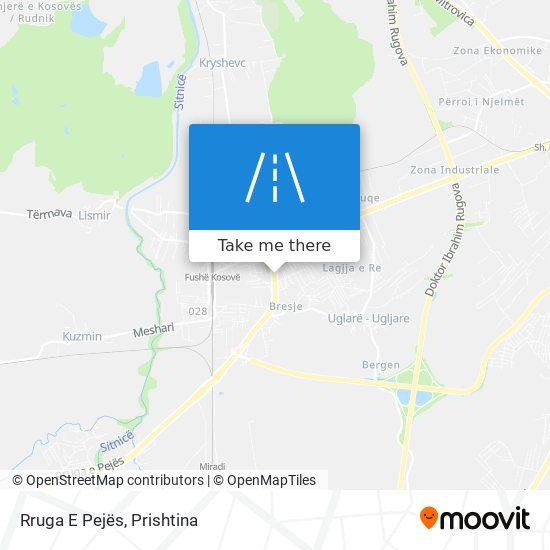 Rruga E Pejës map