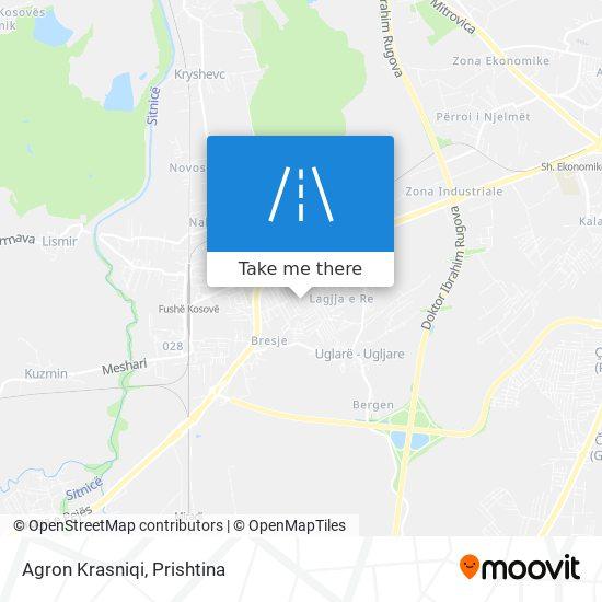 Agron Krasniqi map