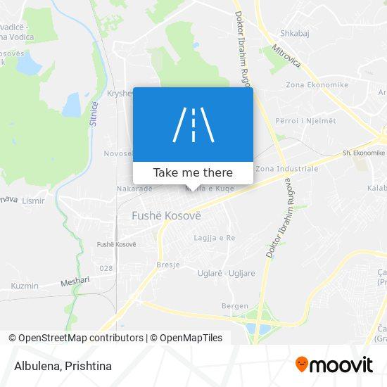 Albulena map