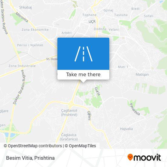 Besim Vitia map