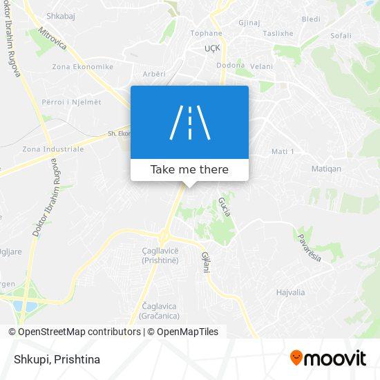 Shkupi map
