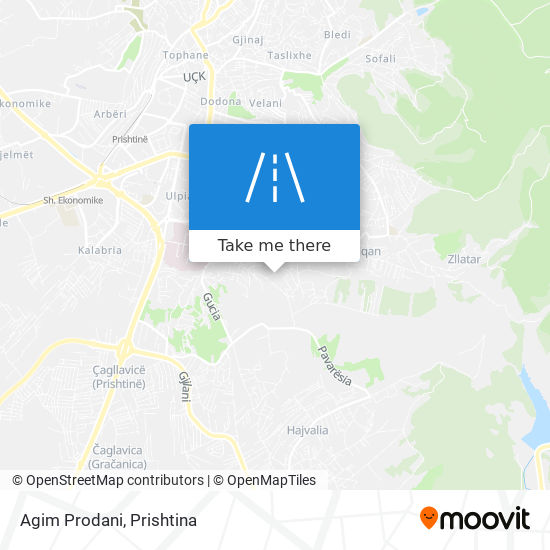 Agim Prodani map