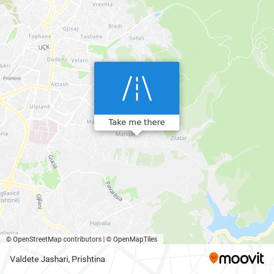 Valdete Jashari map