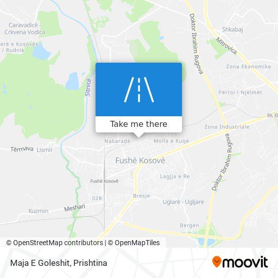 Maja E Goleshit map