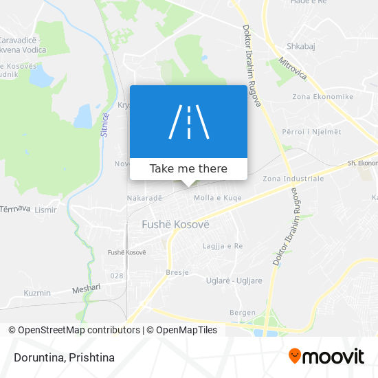 Doruntina map