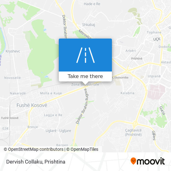 Dervish Collaku map