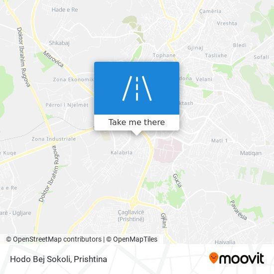 Hodo Bej Sokoli map