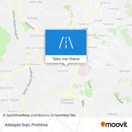 Adelajde Sopi map