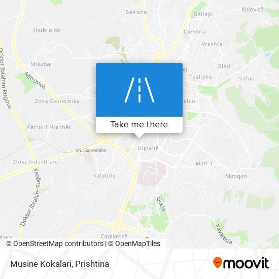 Musine Kokalari map