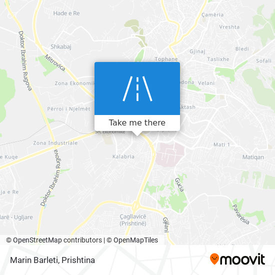 Marin Barleti map