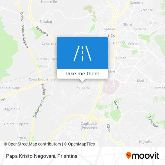 Papa Kristo Negovani map