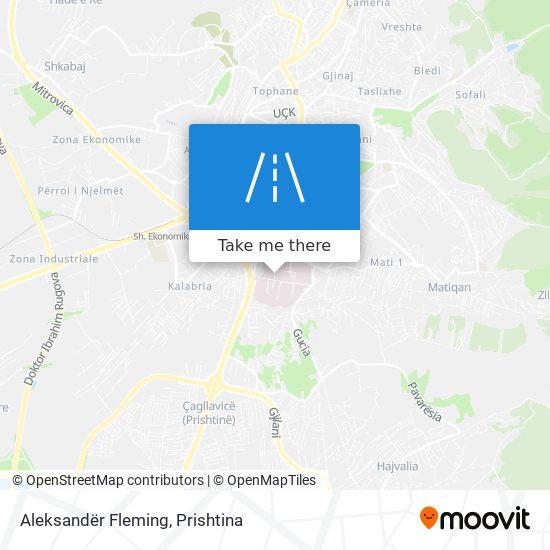 Aleksandër Fleming map