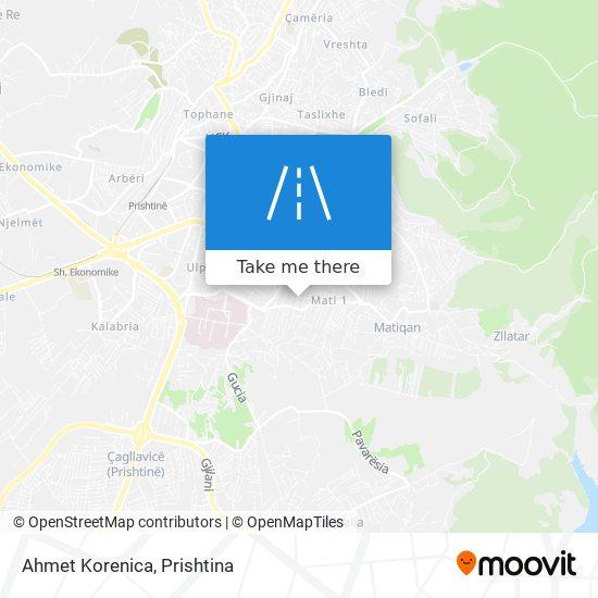 Ahmet Korenica map