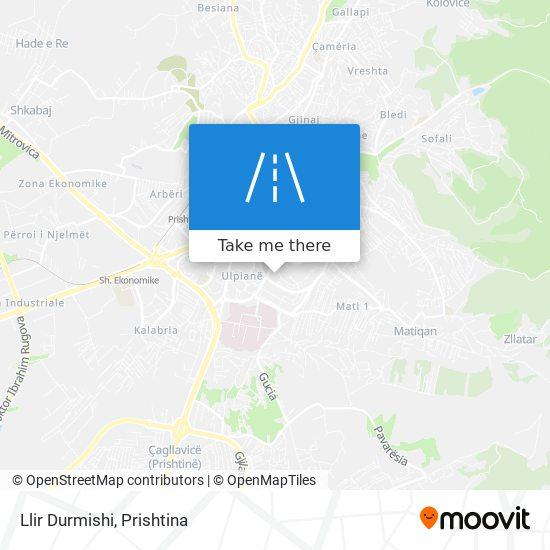 Llir Durmishi map