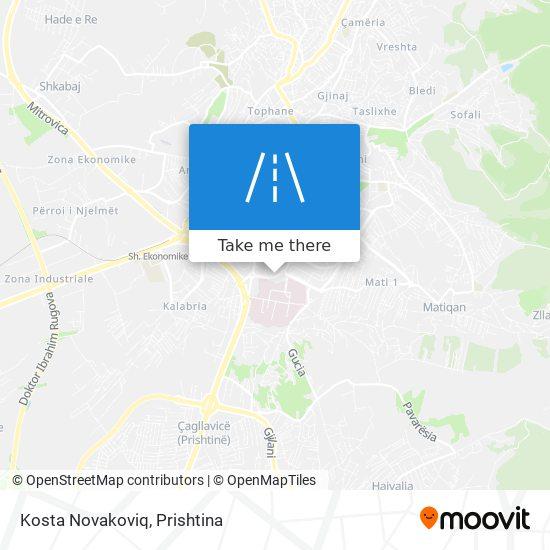 Kosta Novakoviq map