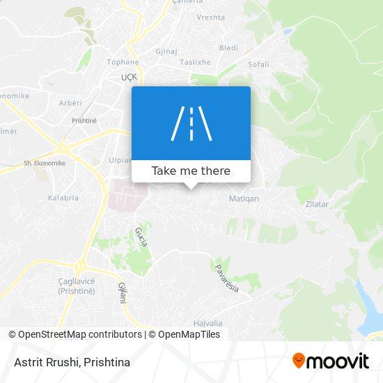 Astrit Rrushi map