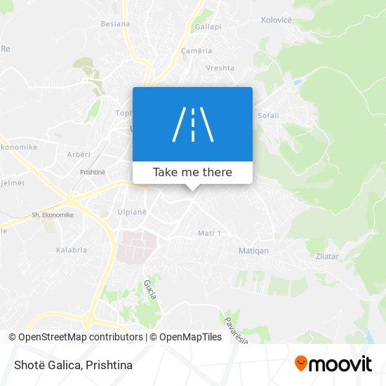Shotë Galica map