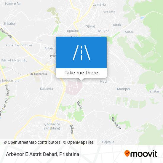 Arbënor E Astrit Dehari map