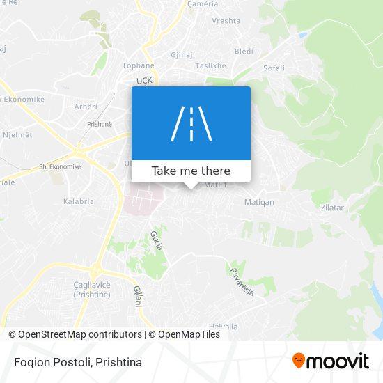 Foqion Postoli map