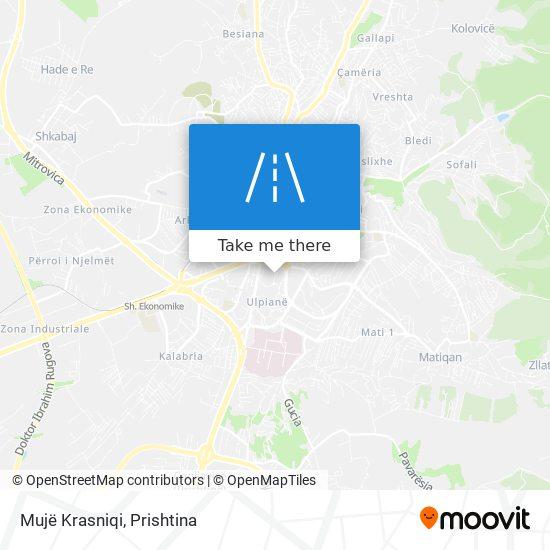 Mujë Krasniqi map