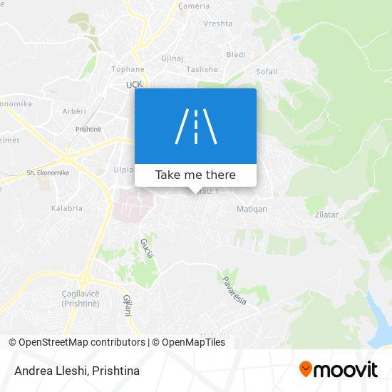 Andrea Lleshi map