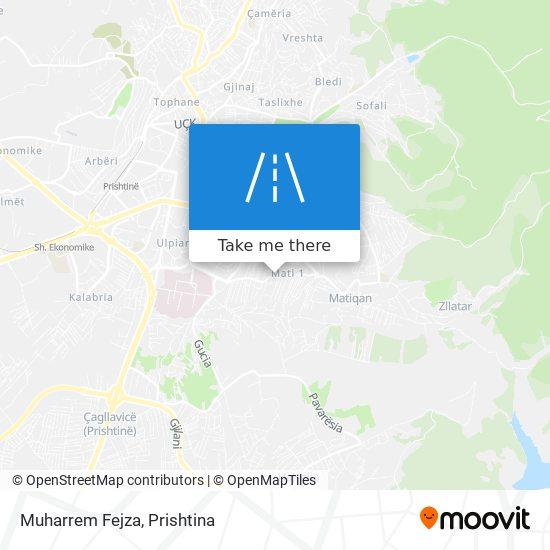 Muharrem Fejza map