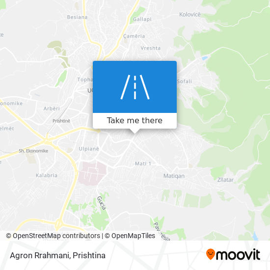 Agron Rrahmani map