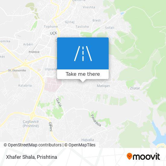 Xhafer Shala map