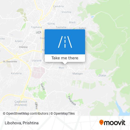 Libohova map