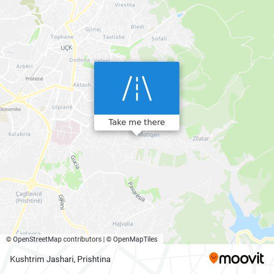 Kushtrim Jashari map