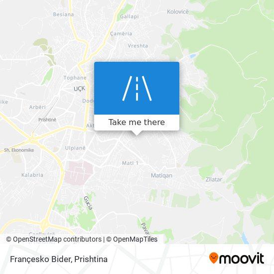 Françesko Bider map