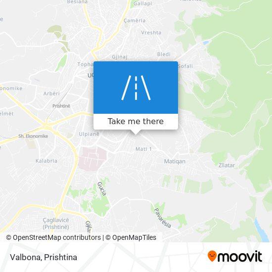 Valbona map