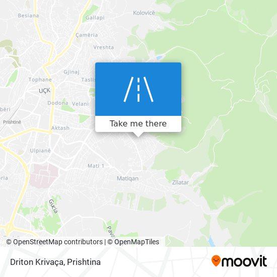 Driton Krivaça map