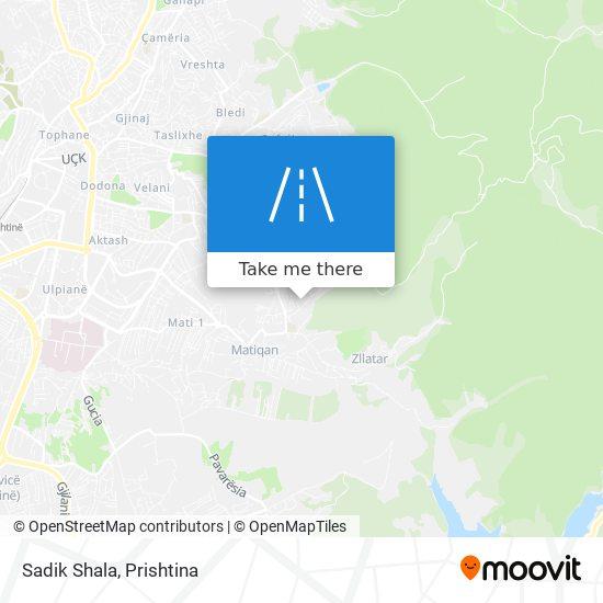 Sadik Shala map