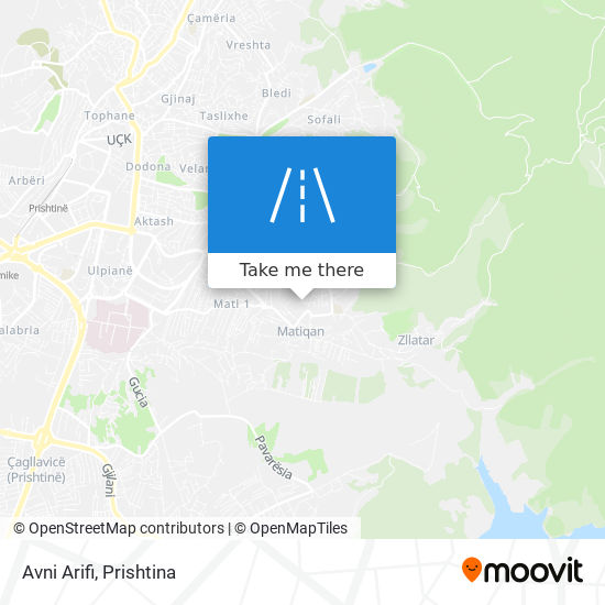Avni Arifi map