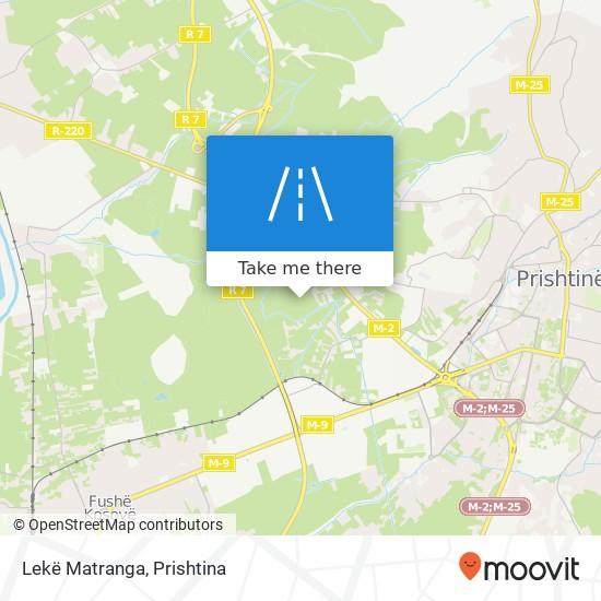Lekë Matranga map