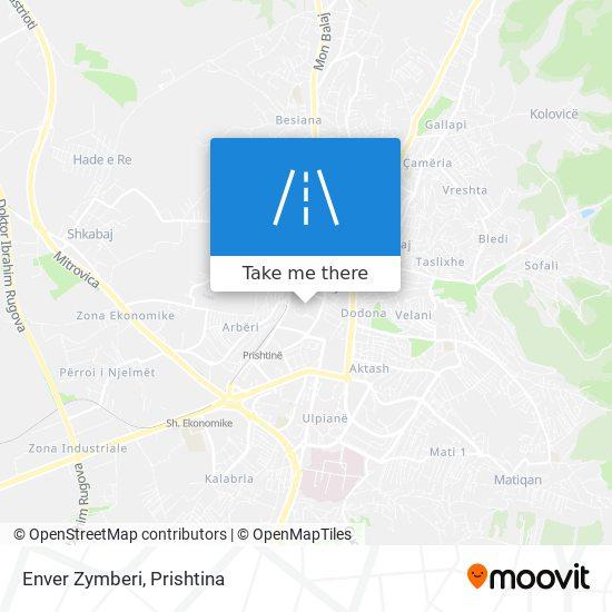 Enver Zymberi map