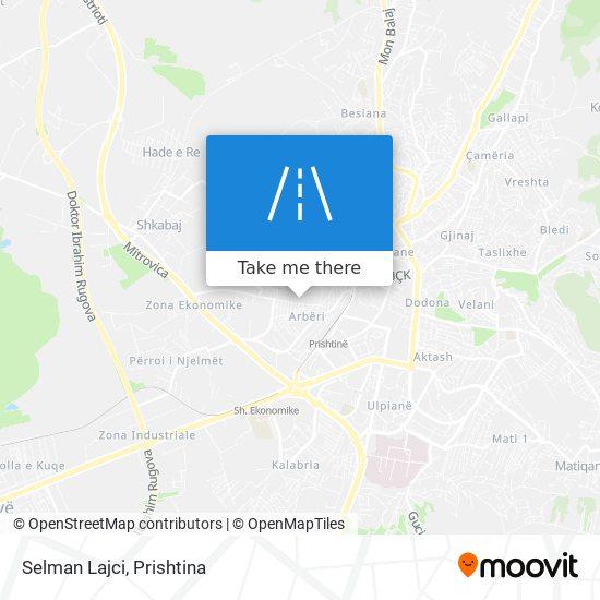 Selman Lajci map