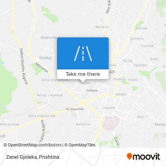 Zenel Gjoleka map