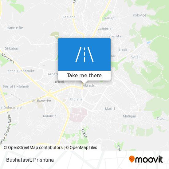 Bushatasit map