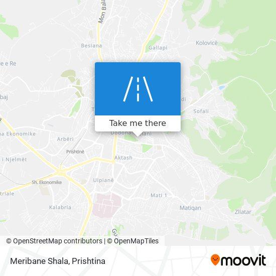 Meribane Shala map