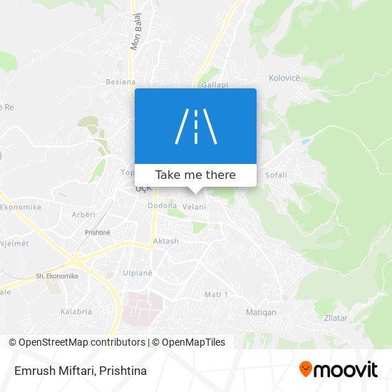 Emrush Miftari map