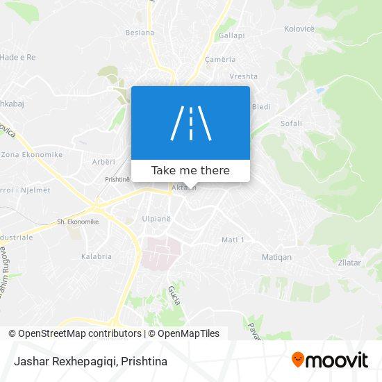 Jashar Rexhepagiqi map